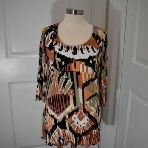 Miracle Body by Miracle Suit print top